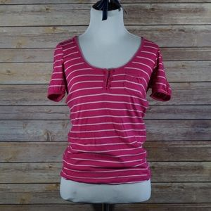 Anchor Blue Pink Striped Tee